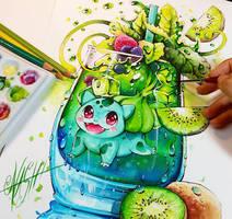 Green Spirit Bulbasaur by Naschi