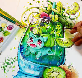 Green Spirit Bulbasaur