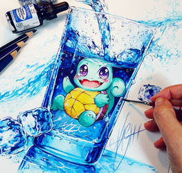 Squirtle Water Splash by Naschi