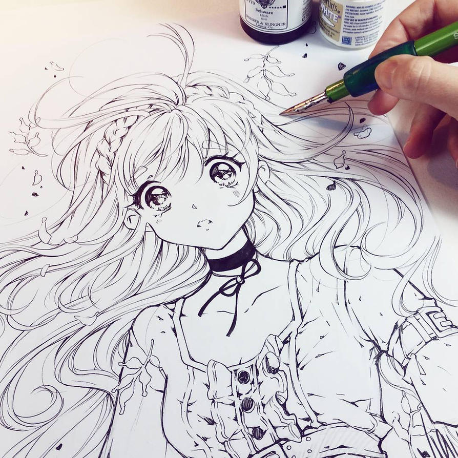 Line Drawing Styles : Feel by naschi on deviantart