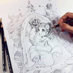 Belle no vidro por Naschi
