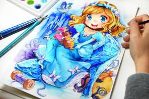 Cinderella Glass Pump by Naschi