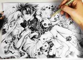 Kirito and Asuna by Naschi