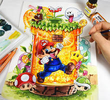 Super Mario by Naschi