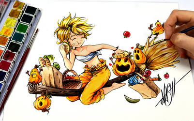 Pumpkin on Shopping Tour by Naschi