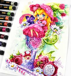 Coquetel Princesa Peach por Naschi