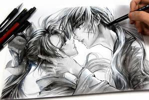 Kenshin L.O.V.E. Kaoru by Naschi