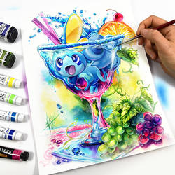 Sobble Cocktail Party by Naschi