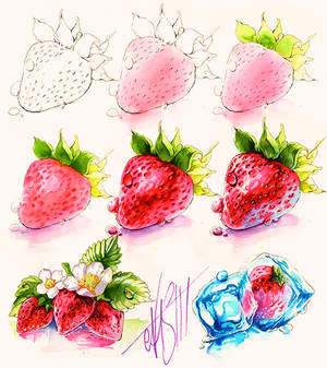 Drawing Stawberries