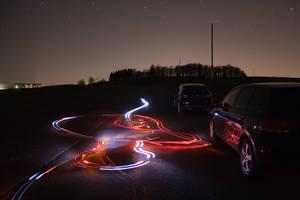 Lights go crazy by Luton
