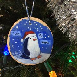 Let It Snow Penguin Ornament