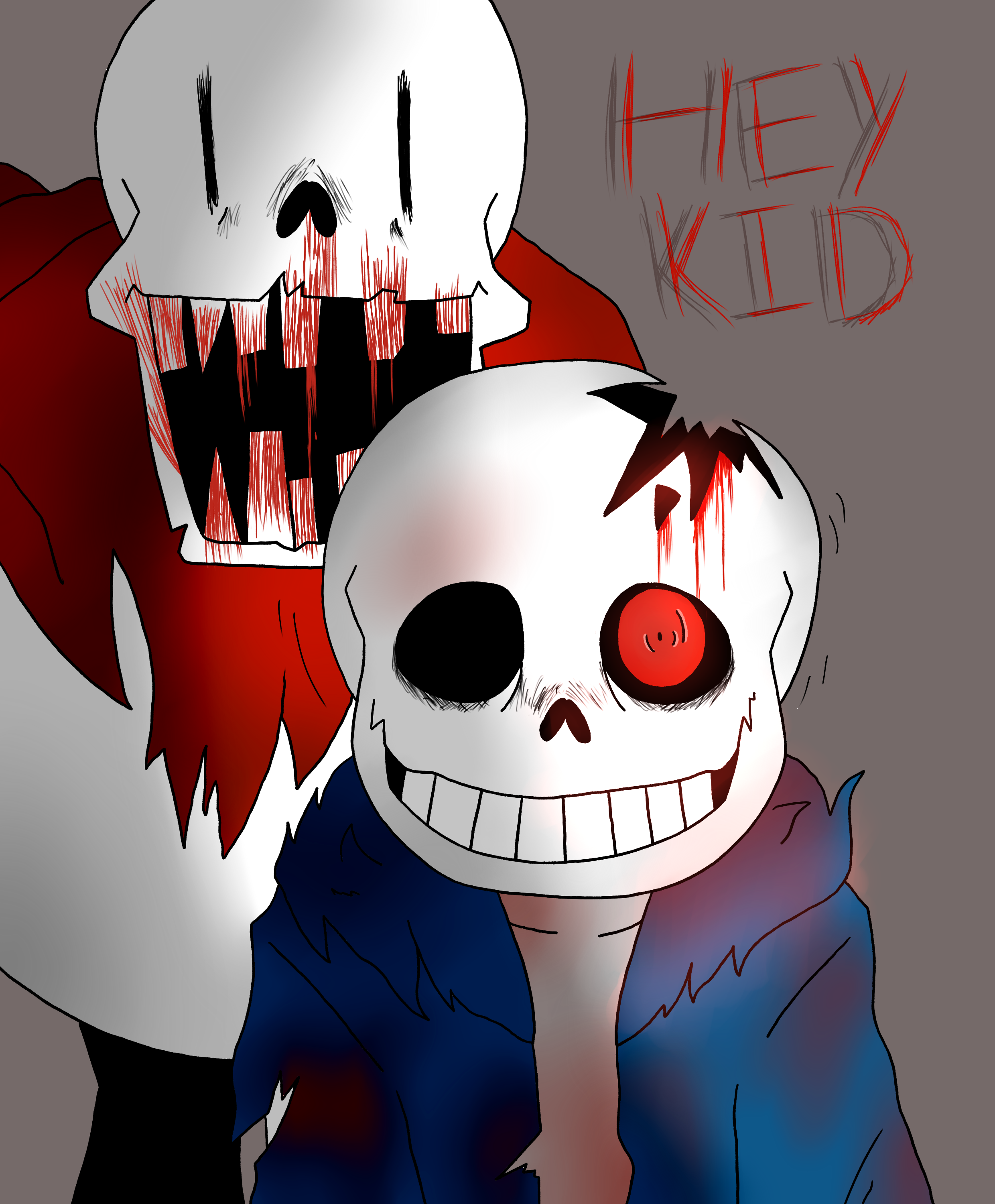 Horrortale - Sans and Papyrus by PaperPlushie on DeviantArt