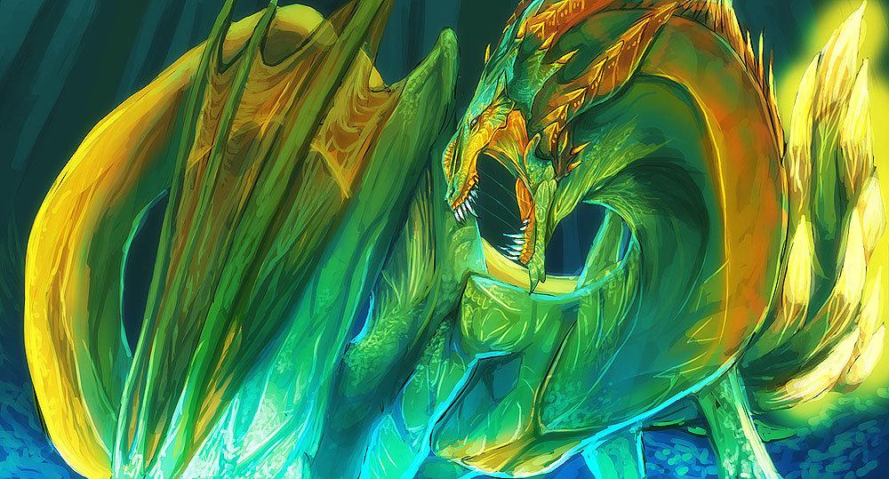 Jungle Dragon by magmi