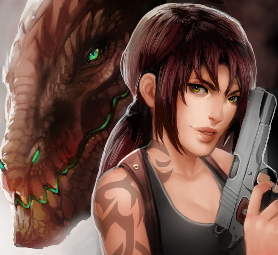 Revy and a dragon by magmi