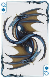 Dragon Queen Playing Card