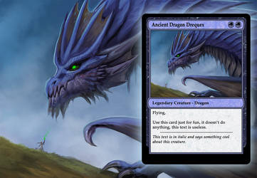 Magic The Gathering inspired dragon