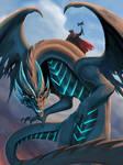 Viking Ulfhednar riding a dragon