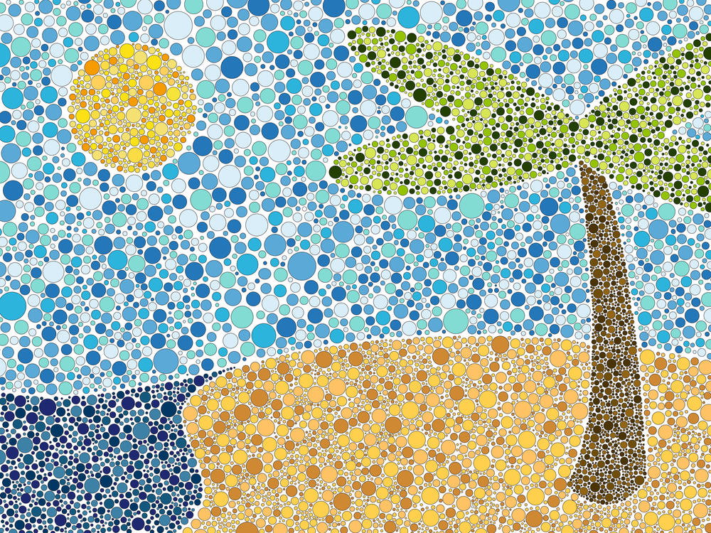 Beach Made Out Of Dots By Wouterse88 On DeviantArt