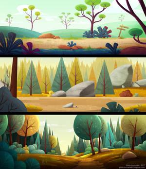 Stylized backgrounds practice