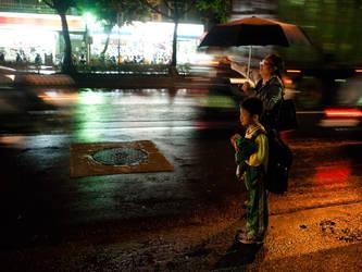 Nighttime Taxi Call by bQw