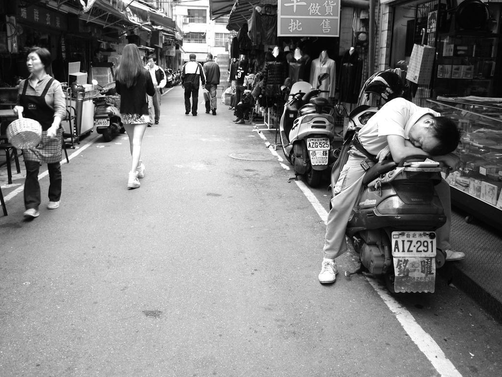 Street-Side Scooter Sleep by bQw