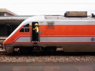 Train Flag Waver by bQw
