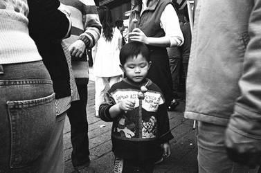 Boy With Fish Balls by bQw