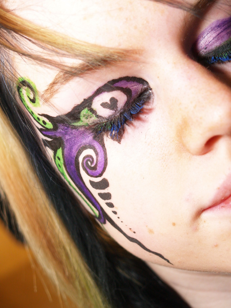 Peacock Fantasy Makeup Fantasy makeup by winged-