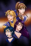 Sailor Scouts Colored