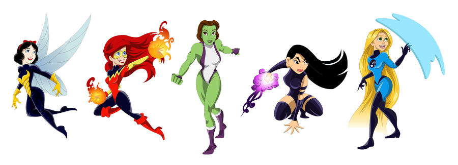 Disney/Marvel Mashup 2 by racookie3