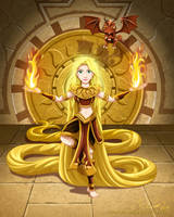 Rapunzel of the Ancient Sun Warriors by racookie3