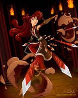 Megara, Master of Throwing Daggers by racookie3