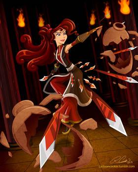 Megara, Master of Throwing Daggers