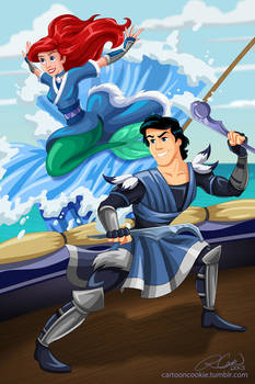 Prince Eric and Ariel of the Water Tribe