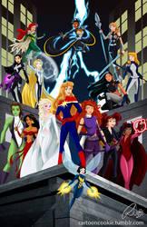 Disney Ladies Meet Marvel Super Heroes by racookie3