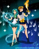 Sailor Uranus and Neptune