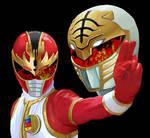 Ryuu Ranger and Kiba Ranger