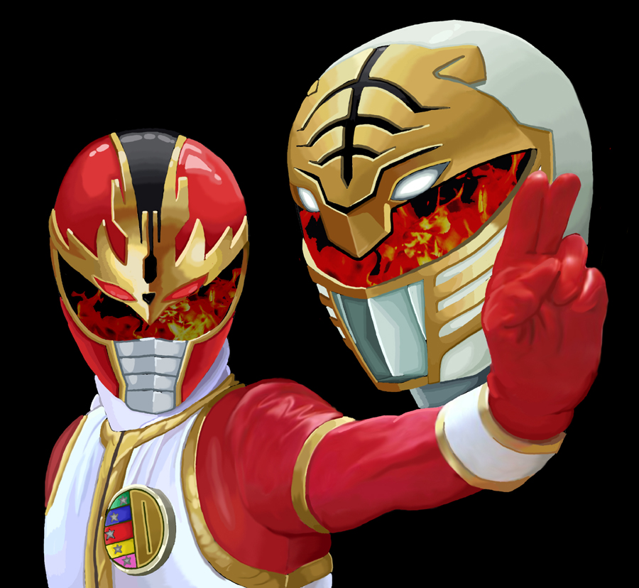 Mighty Morphin Power Rangers Wallpaper: Ryuu Ranger And Kiba Ranger By Racookie3 On DeviantArt