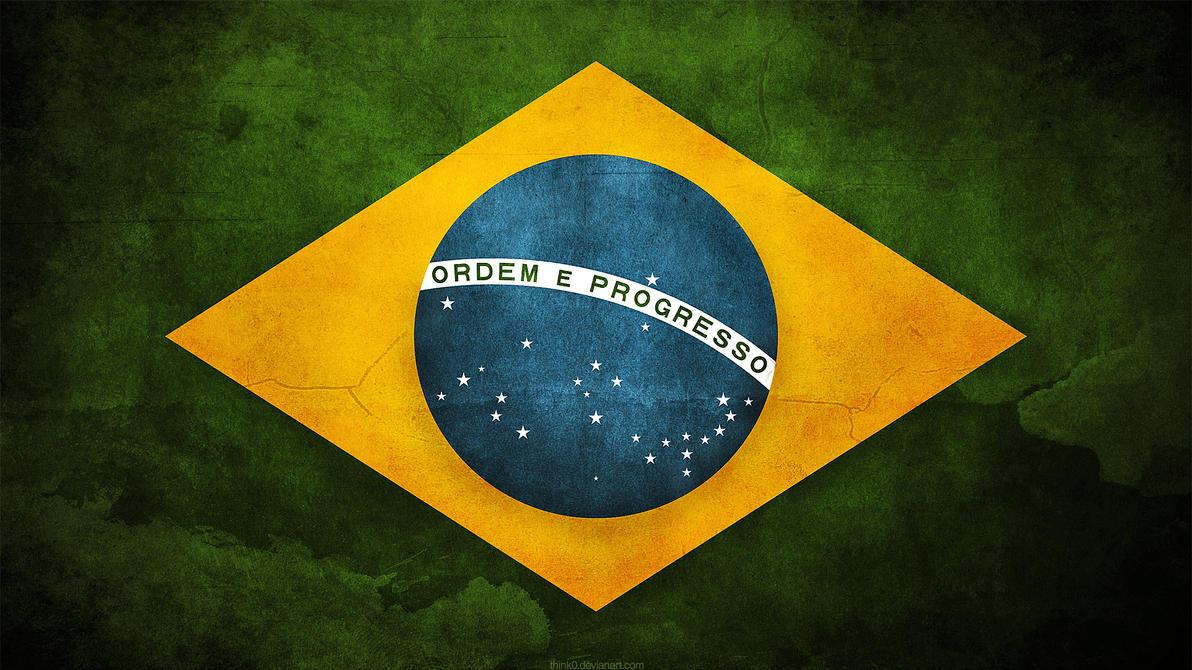 Brazil Grunge Flag by namanmeena