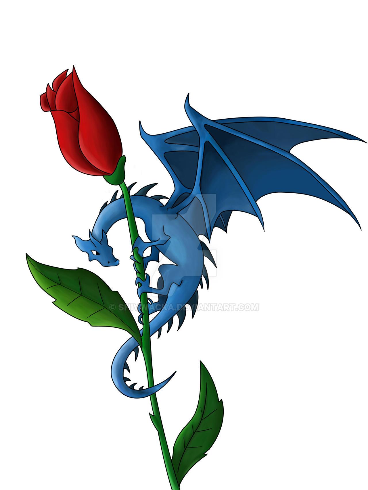 dragon rose by shivwacka on deviantart. Black Bedroom Furniture Sets. Home Design Ideas