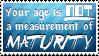 Maturity Stamp
