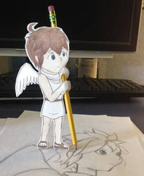 Paper Child: Little Pit - Angel Assistant by HoshiNoSenshi