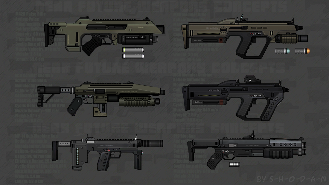 Near Future Weapon Concepts 02 by S-H-0-D-A-N