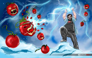 SOURCEFED's Steve Zaragoza vs Killer Tomatoes! by shaunriaz