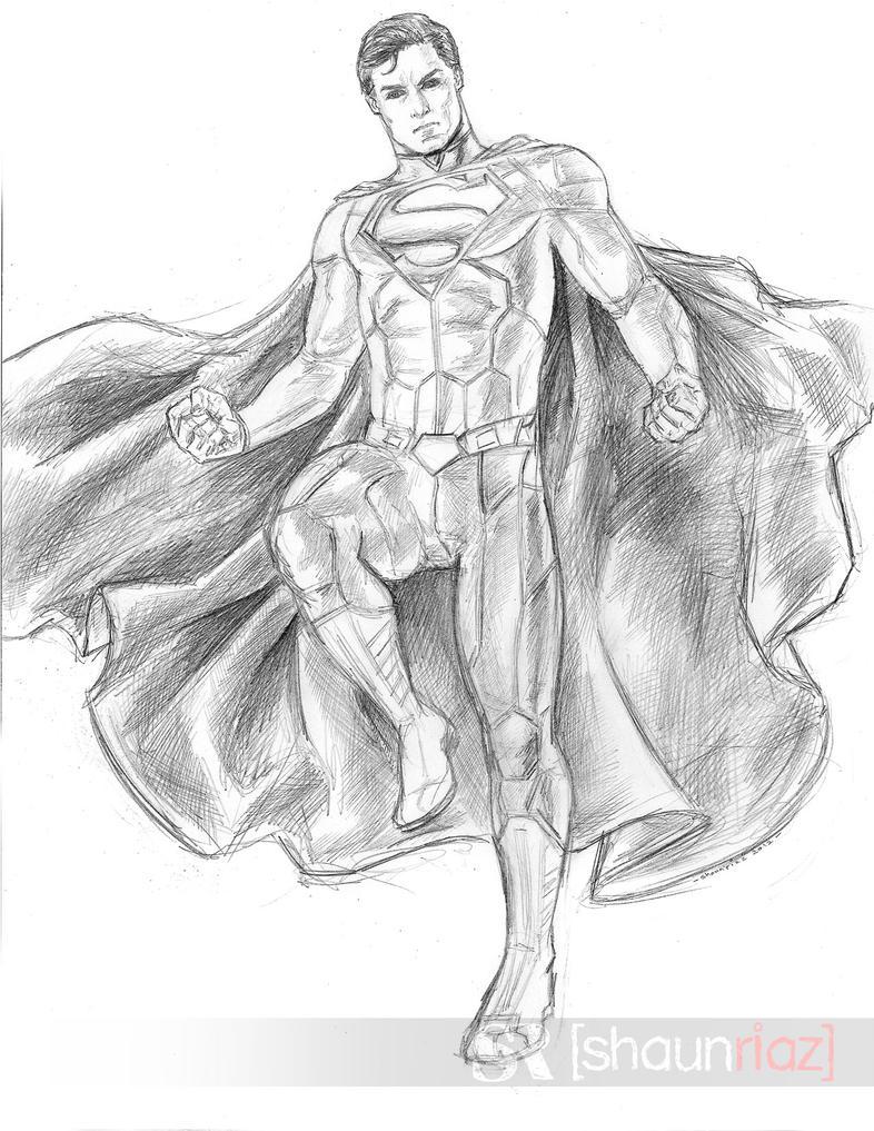 Superman sketch by shaunriaz on DeviantArt