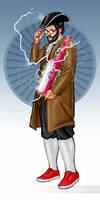 Benjamin Franklin: Time Traveller by shaunriaz