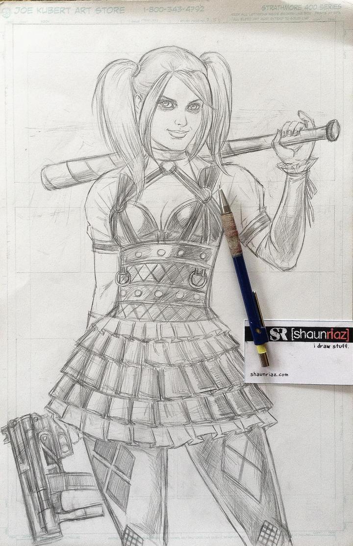 Harley Quinn by shaunriaz