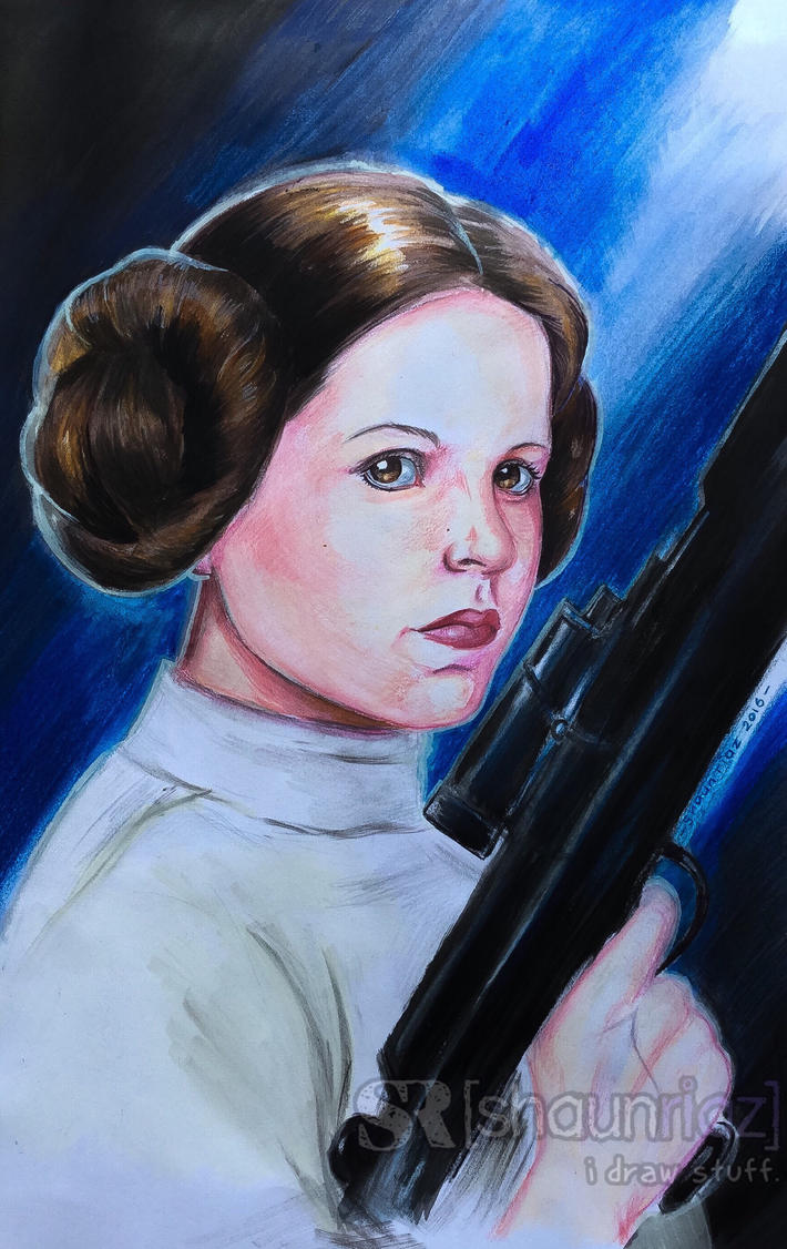 Princess Leia. by shaunriaz