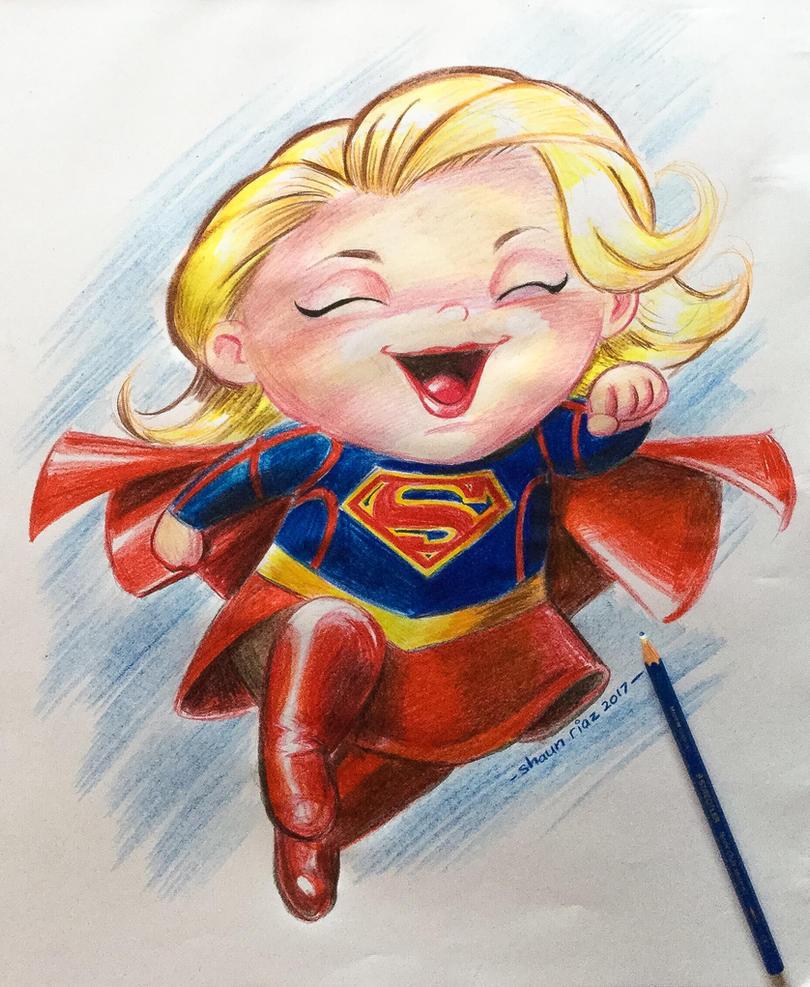 Lil Supergirl by shaunriaz