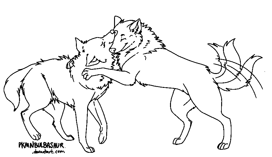 friendly wolf coloring pages - photo#35